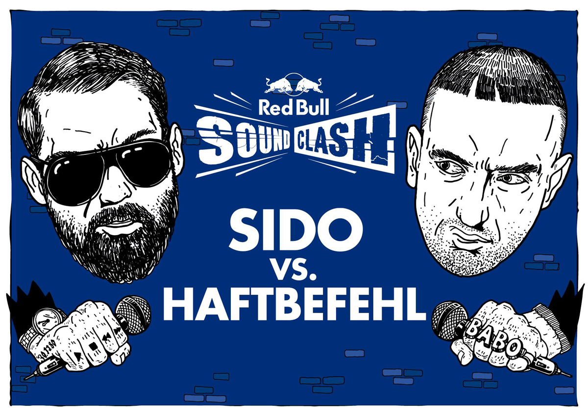 Red-Bull-Soundclash_Sido-vs-Haftbefehl_Illustration_Querformat