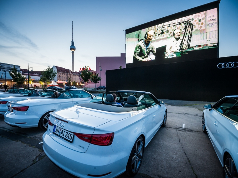 AUDI URBAN CINEMA OPENING am 04.06.2014 Berlin Alexanderplatz