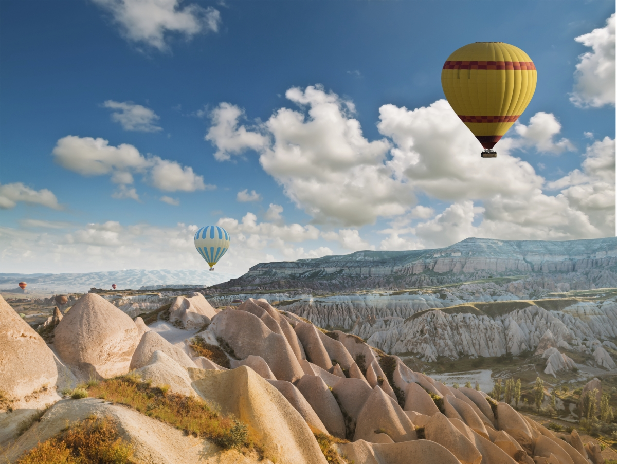 air balloon in Cappadocia, Turkey