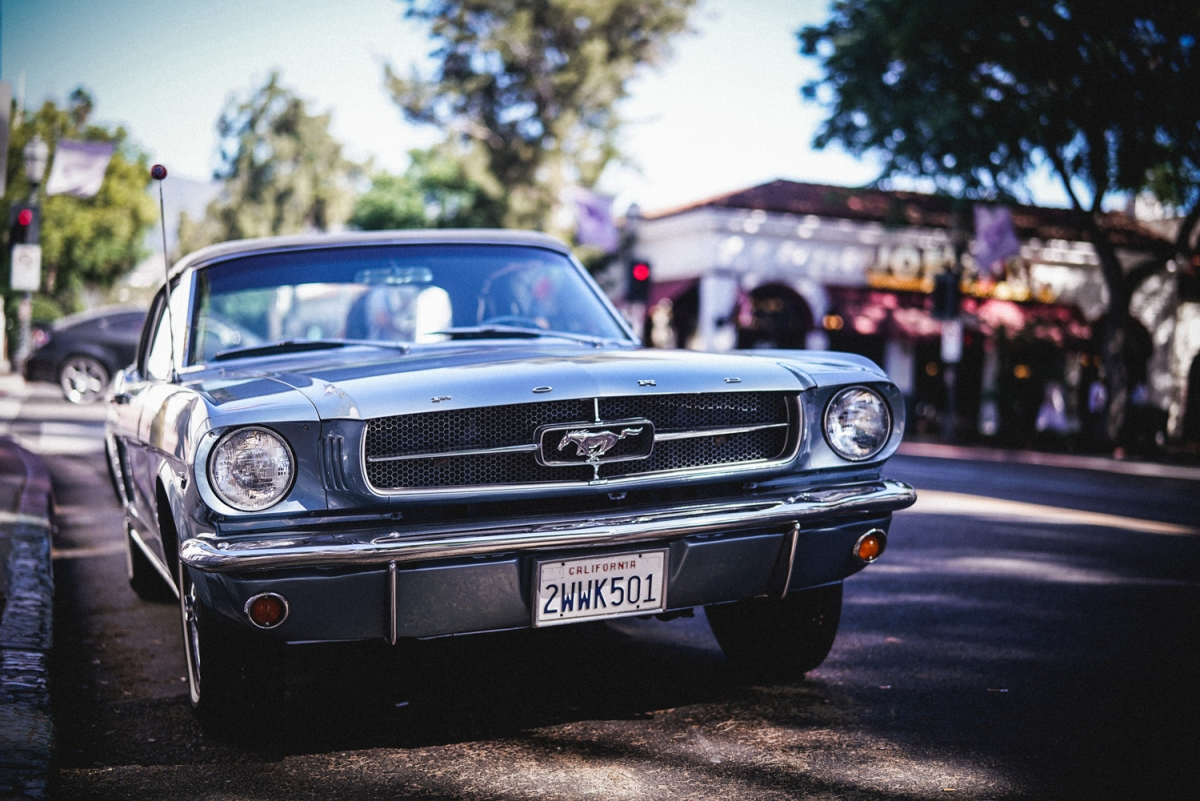 Favorite muscle car, spotted in Santa Barbara: a beautiful Ford Mustang