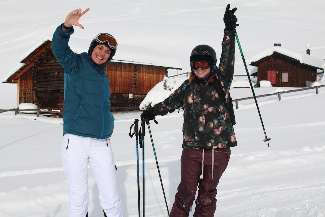 Annie von Todayis.de und ich auf unserer ersten Abfahrt ♥