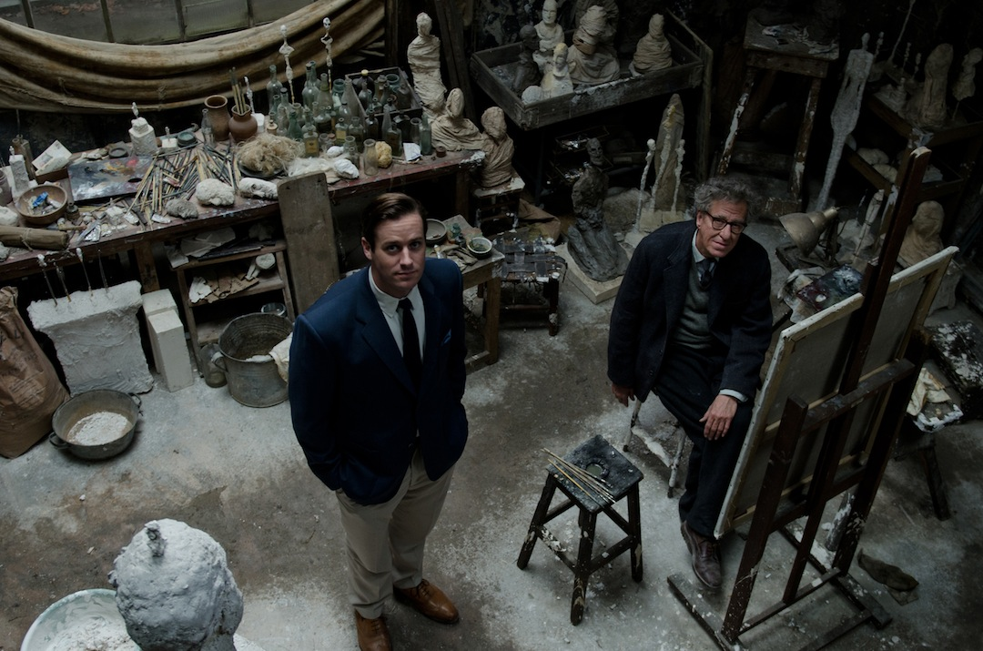 Geoffrey Rush malt als Alberto Giacometti sein letztes Portrait.