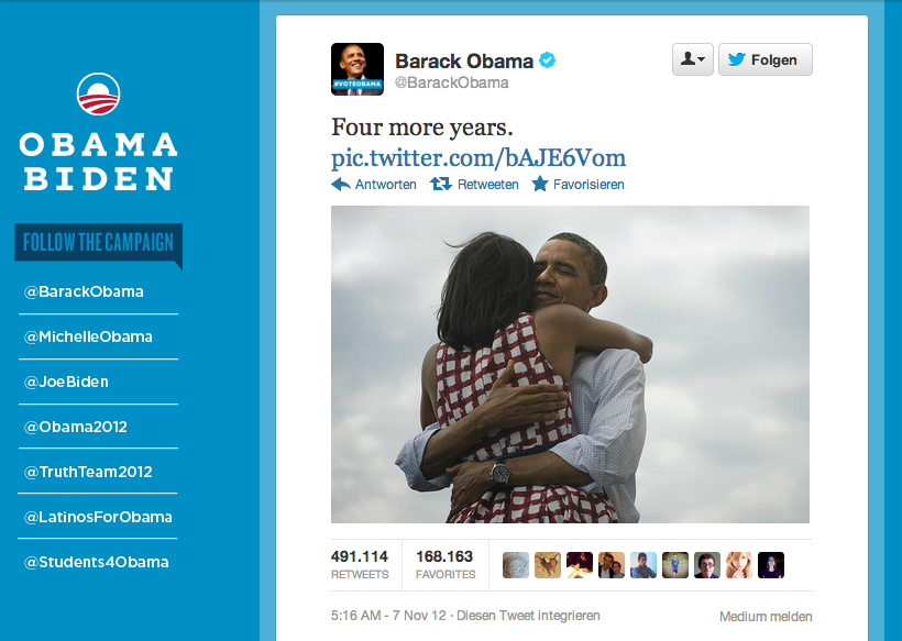 """Four more years"" — Barack Obama at faroo.com: Bildschirmfoto-2012-11-07-um-08.52.26"