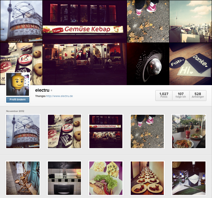Instagram Web Profile electru