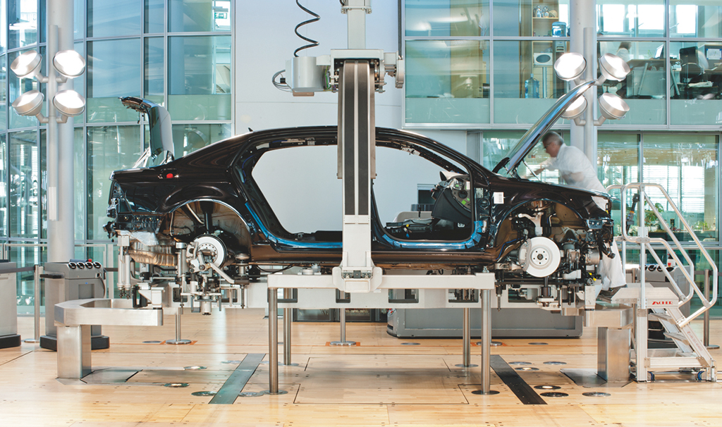 Die Glaeserne Manufaktur in Dresden/Fertigung Volkswagen Phaeton