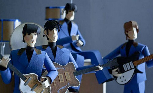 beatles_diorama_paper