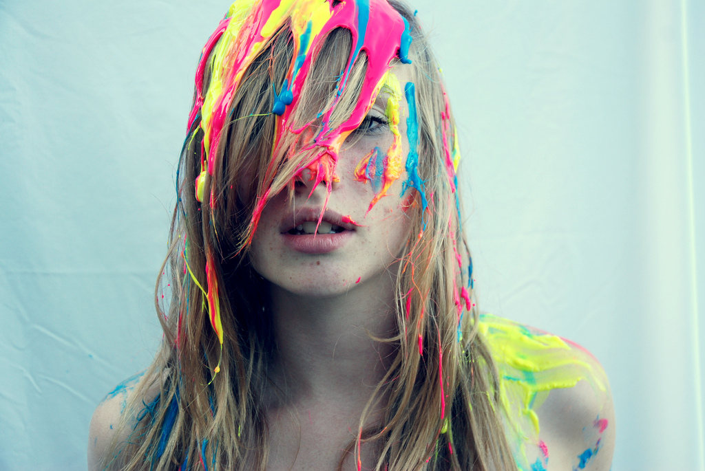 Neon Paint Splatter Body Man